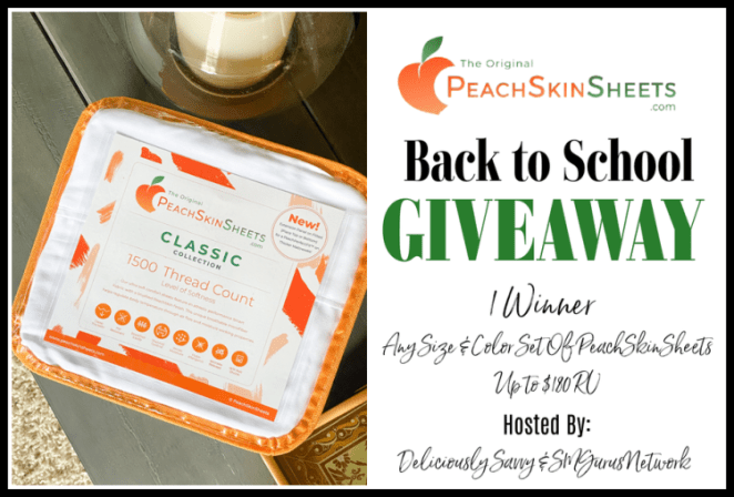 PeachSkinSheets Back to School Giveaway