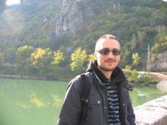 Mladen at the bridge, Visegrad