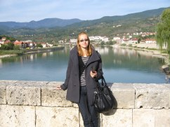 Milica at the bridge, Visegrad