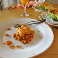 Pav - Bhaji Pot Pie - Indian spiced vegetable pot pie