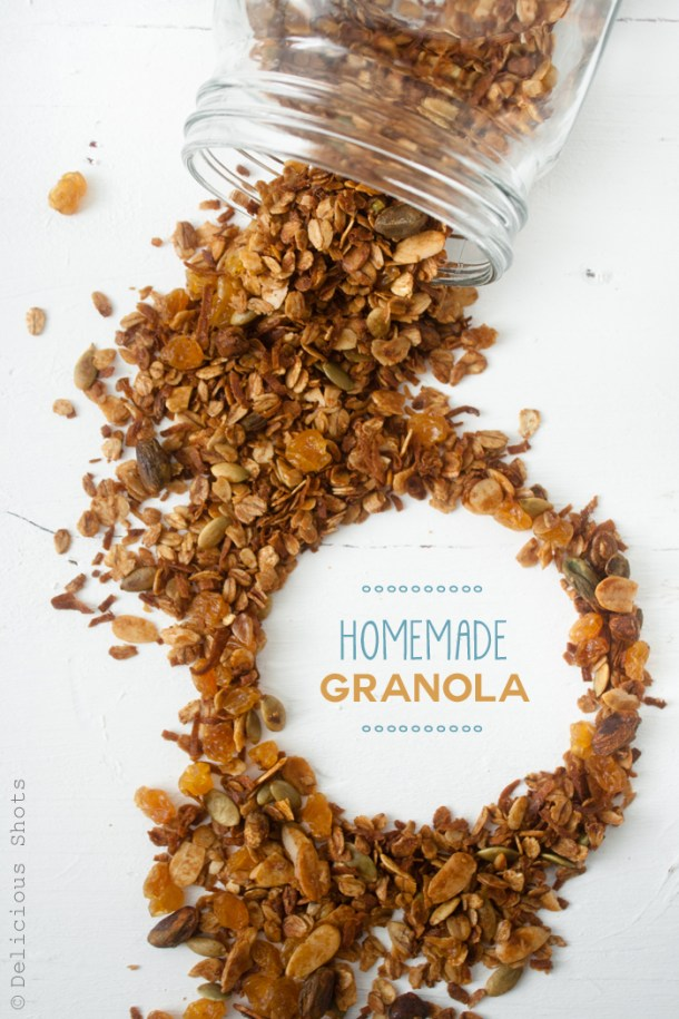 Homemade Granola with Fig Sauce + A Video