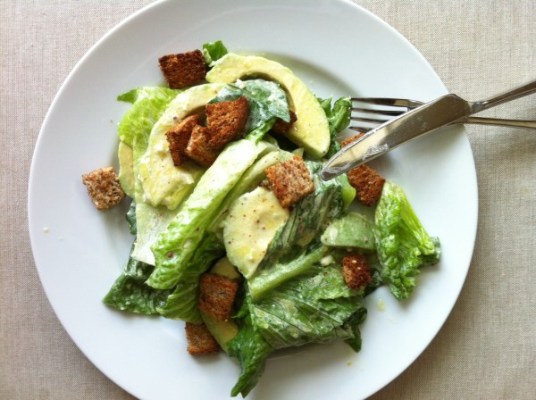 organic avocado caesar salad Delighted