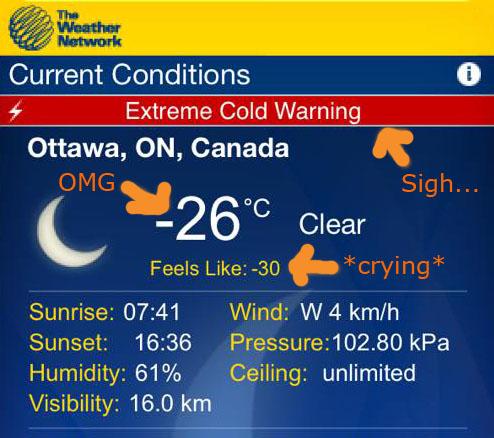 Cold Ottawa Weather