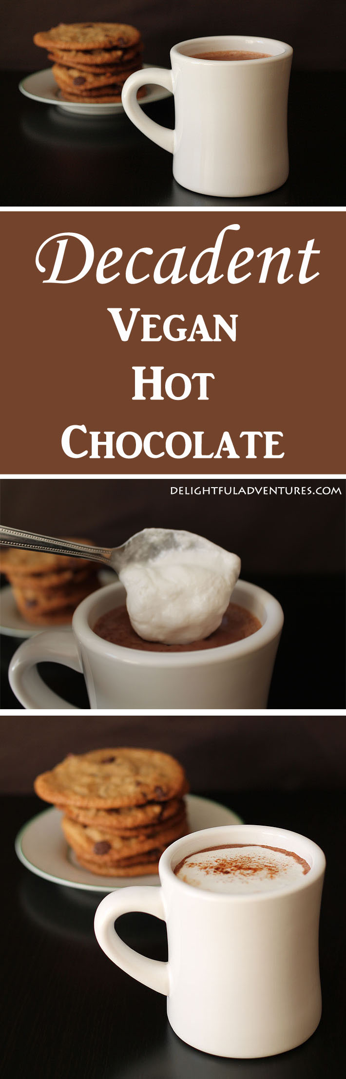 Why have regular hot chocolate when you can make yourself this easy and rich decadent vegan hot chocolate to warm up with instead?