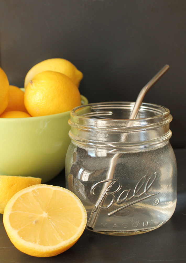 I don't start my day with coffee, instead I start it with this refreshing lemon water because it makes me feel great.