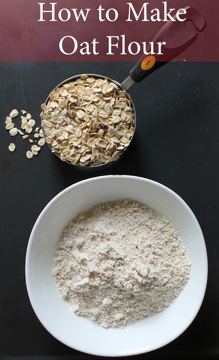 There's no need to buy expensive oat flour at the store because it's simple to make yourself! Here's how to make oat flour at home.