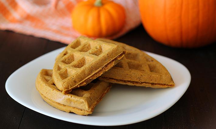Vegan Gluten Free Pumpkin Spice Waffles