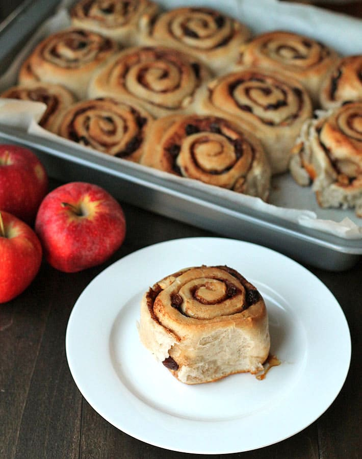 Mouthwatering Apple Raisin Cinnamon Rolls will become a welcome addition to your breakfast table.