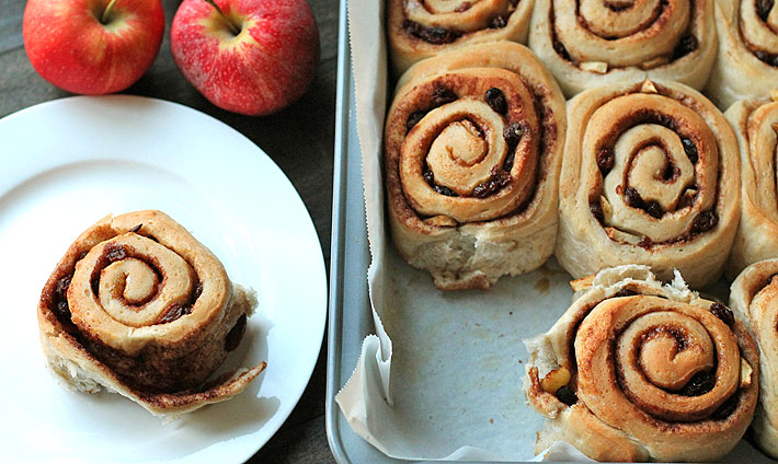 Apple Raisin Cinnamon Rolls