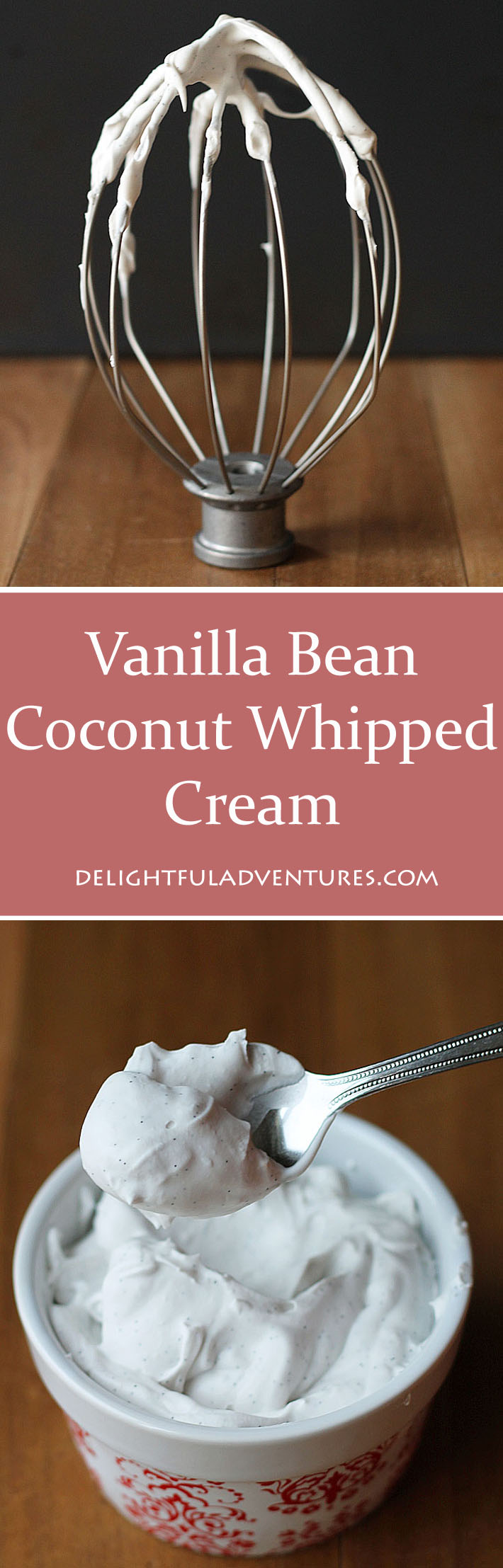 Thai Kitchen Lite Coconut Milk vanilla bean coconut whipped cream - delightful adventures