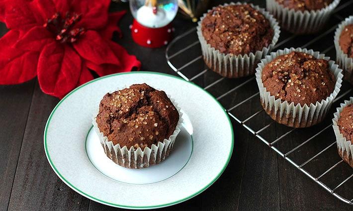 Gingerbread Chocolate Chip Muffins (Vegan + GF)