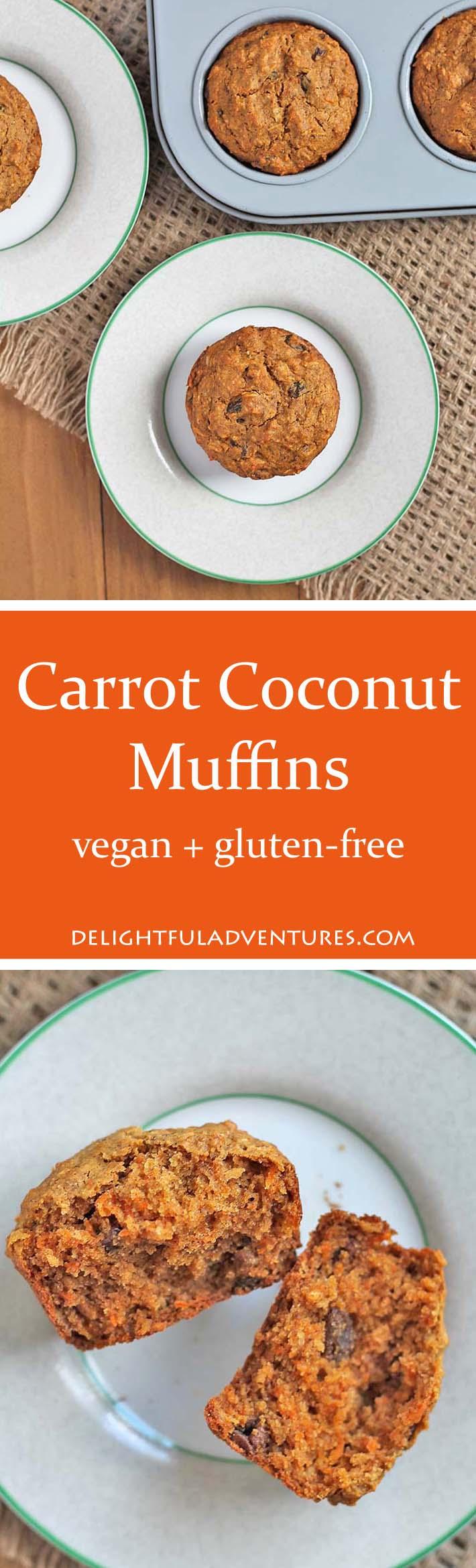Vegan Gluten-Free Carrot Coconut Muffins