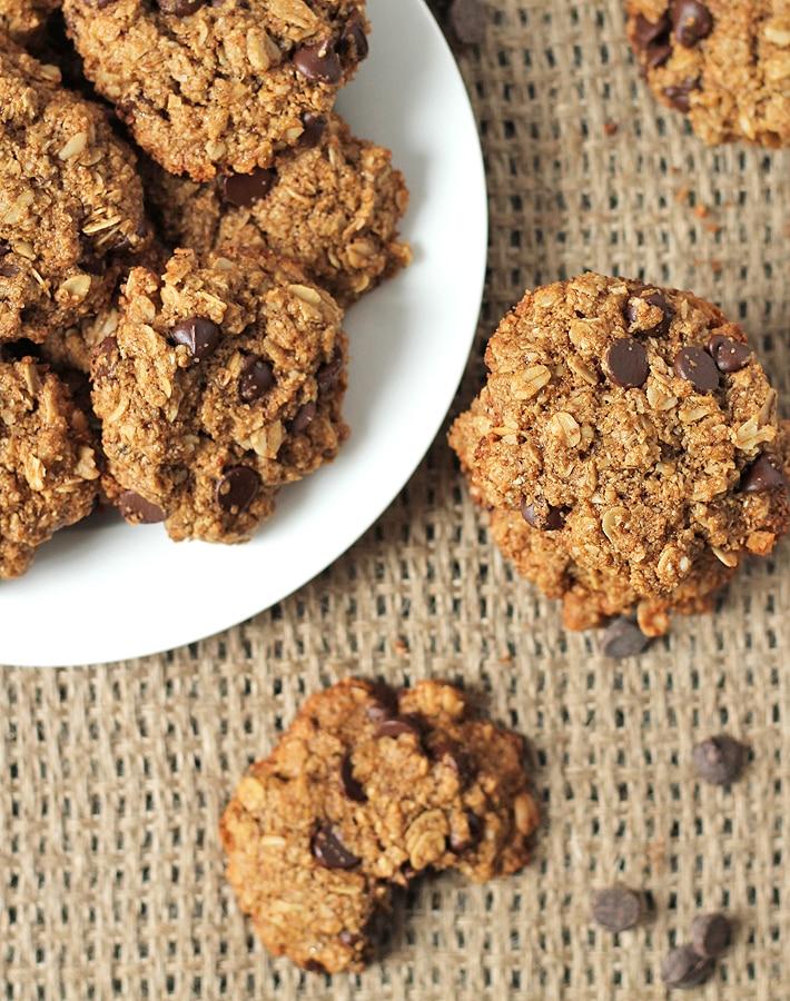 Oatmeal Chocolate Chip Coconut Cookies (Vegan + GF)