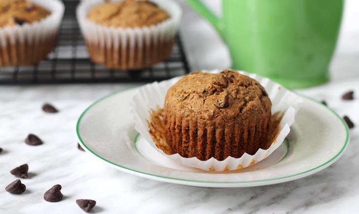 Vegan Gluten Free Zucchini Chocolate Chip Muffins