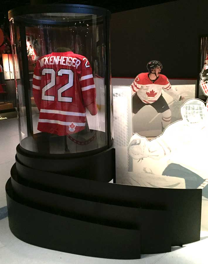 Hayley Wickenheiser jersey at the Canadian Museum of History special exhibit- Family Fun in the Outaouais