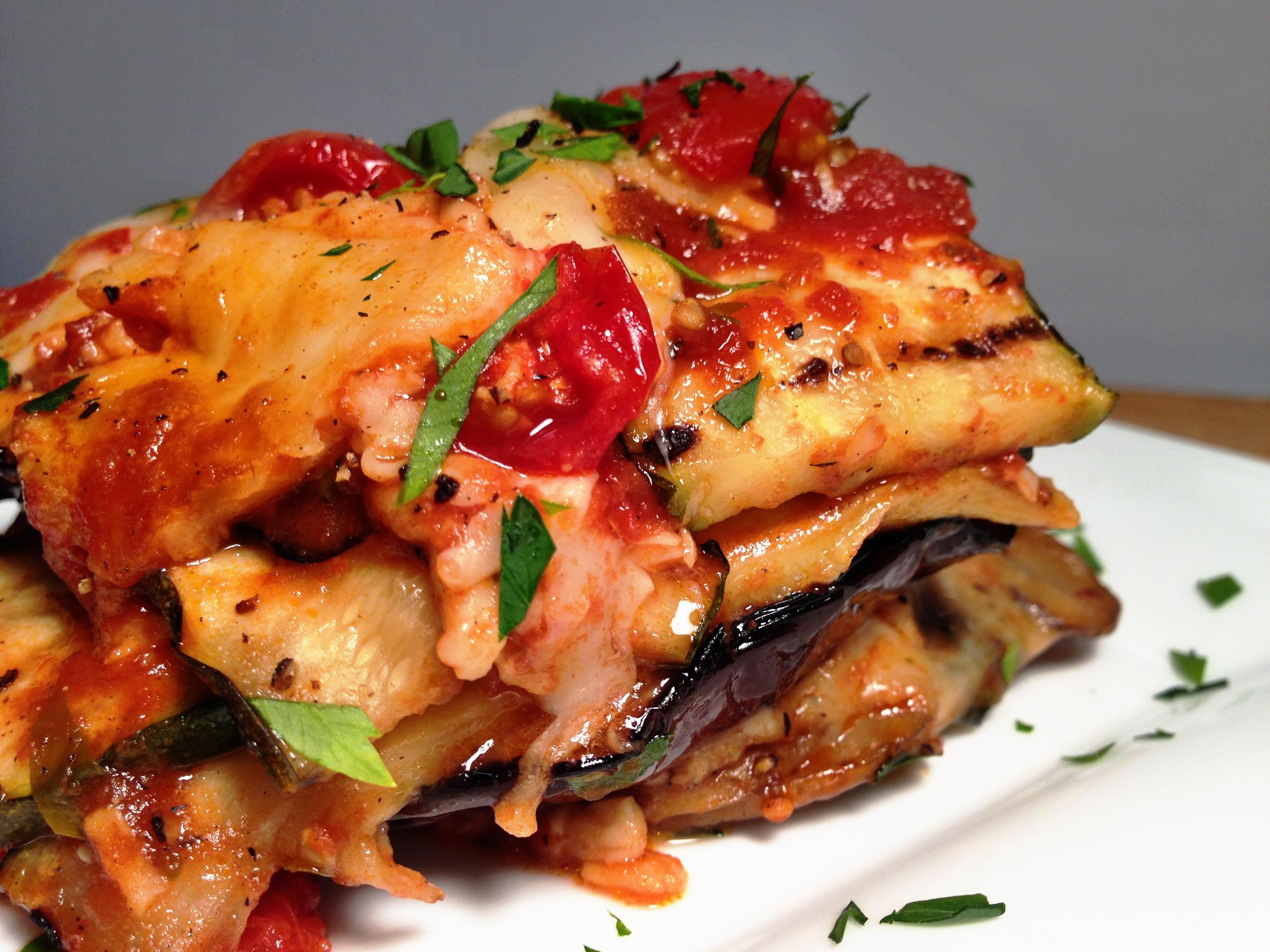 NoCarb NoPasta Grilled Garden Vegetable Lasagna with