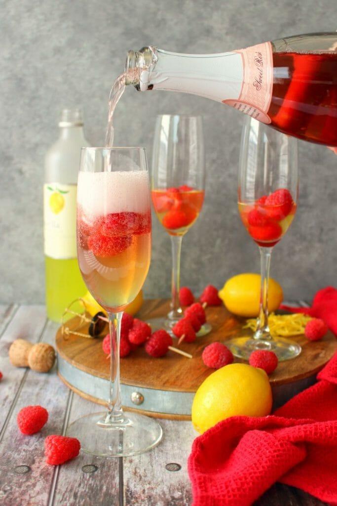 Raspberry Lemon Mimosas