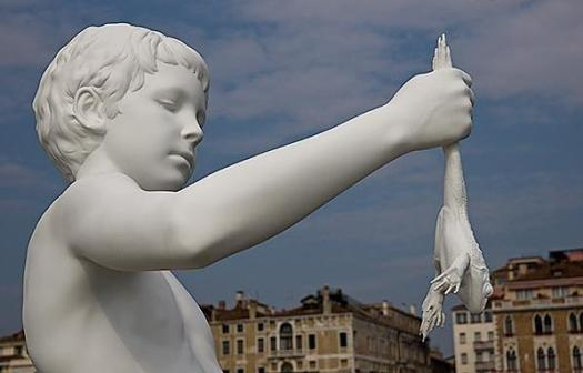 Venice - Punta della dogana - Boy with frog 2