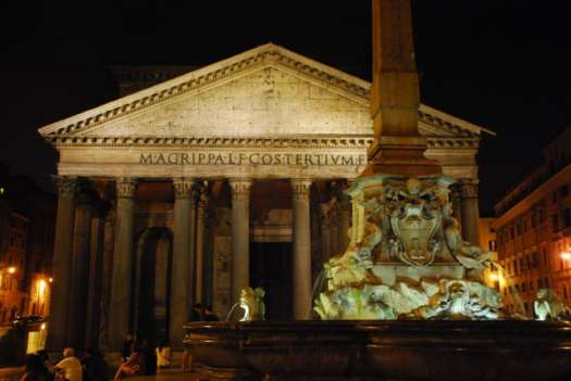 Night walk in Rome - Pantheon by night_01