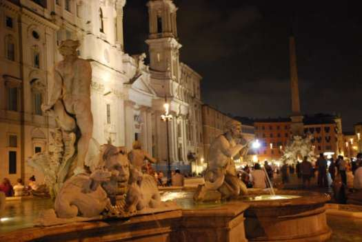 Night walk in Rome - Piazza Navona_fontna del moro 2_01