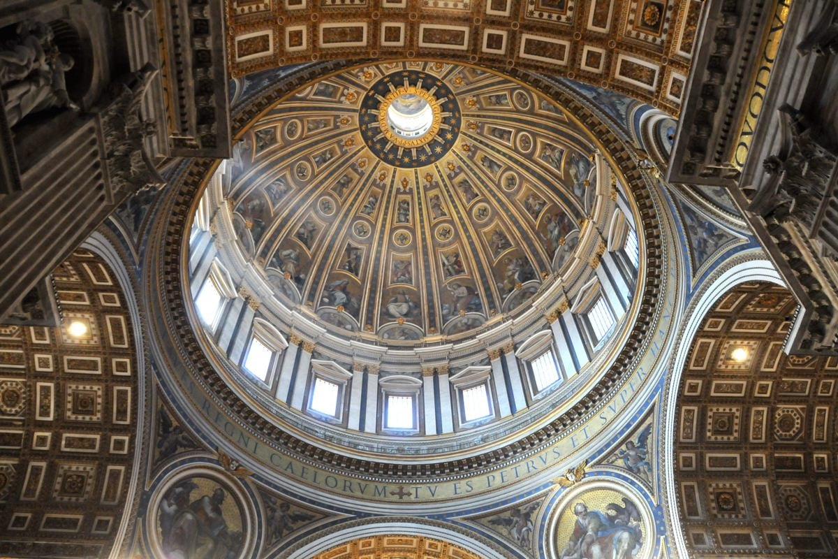 St Peters dome from the basilica
