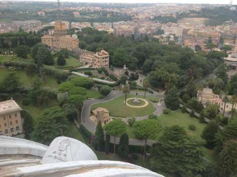 Vatican Gardens from cupola