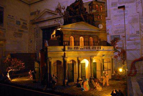 Nativity scenes_Italy_Nativity scene in Sta Maria in Trastevere