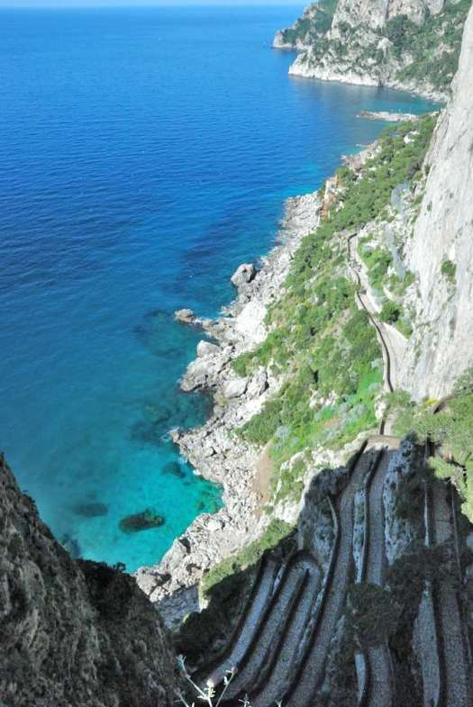 Capri walking itinerary - capri via Krupp