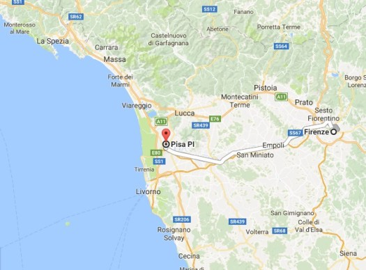Florence to Pisa by train