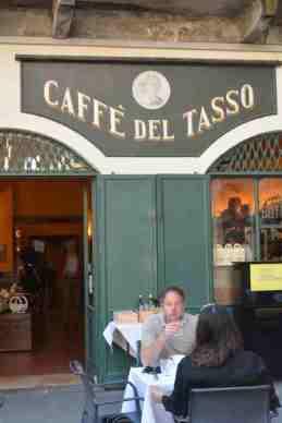Bergamo Italy in one day - caffè del tasso