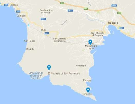 How to visit Portofino Map