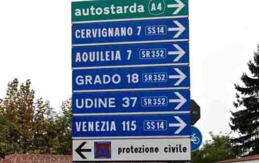 Driving in Italy_Indicazioni stradali