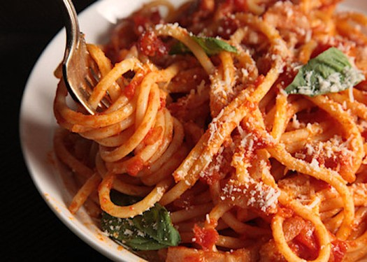 Italian pasta dishes - Bucatini all'Amatriciana