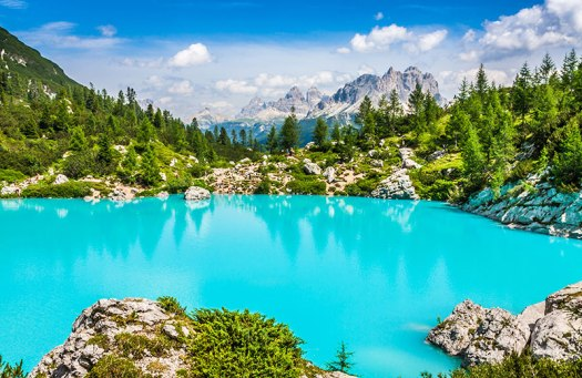 Visit the Dolomites - lago di Sorapis