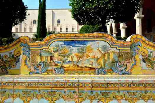 Naples in one day walking itinerary - Santa Chiara cloister