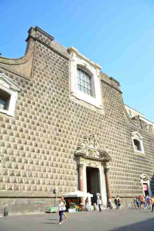 Naples in one day walking itinerary - chiesa del Gesu nuovo