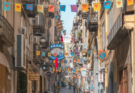 Naples in one day walking itinerary - the Spanish quarter