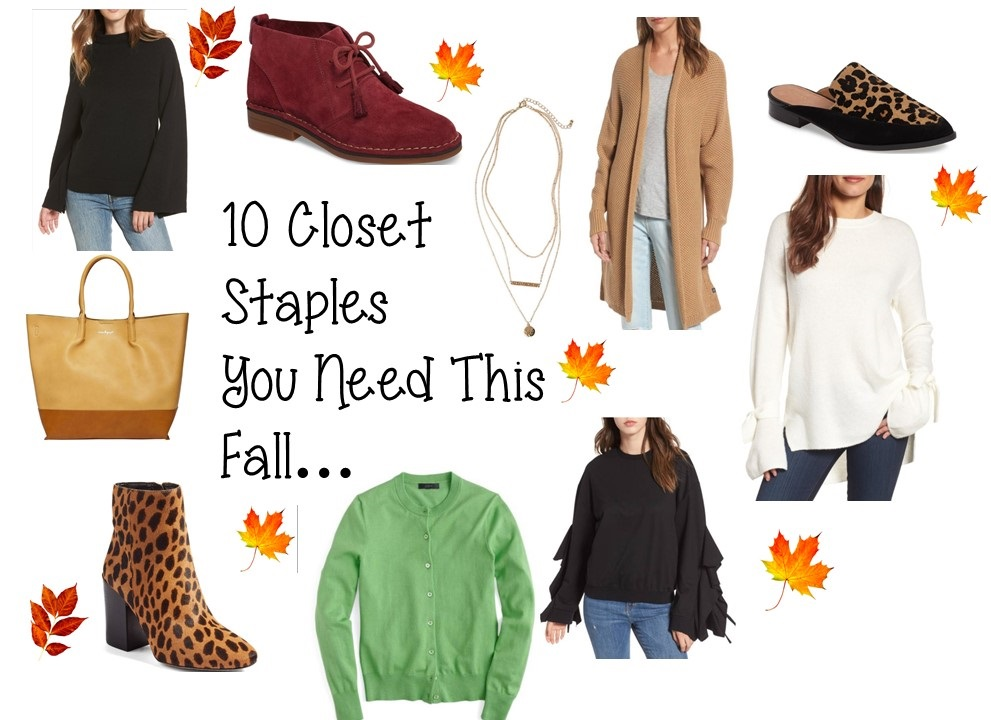 10 Closet Staples You Need For The Fall…..