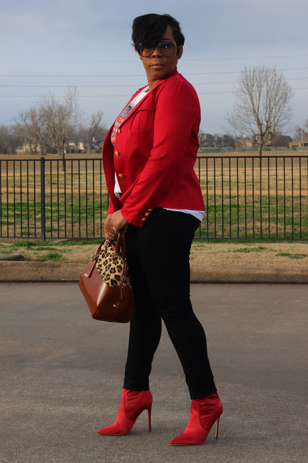 An Edgy Valentine Look…..