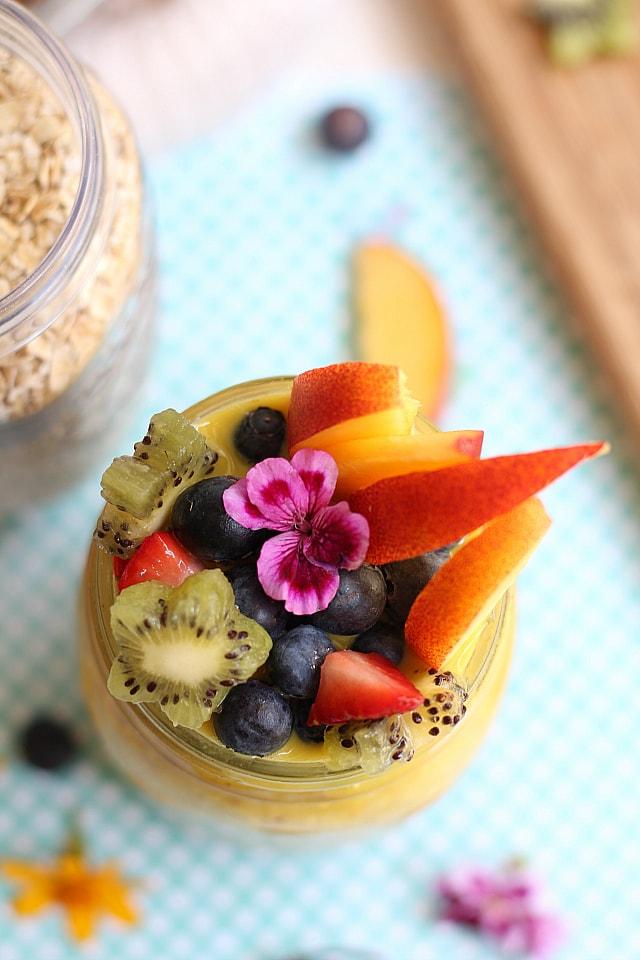 Fruit on Golden Milk Oats