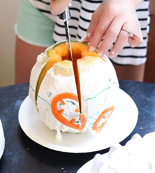 Cantaloupe Cake! BB-8 Droid Star Wars Cake