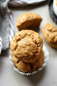 Blender banana zucchini muffins