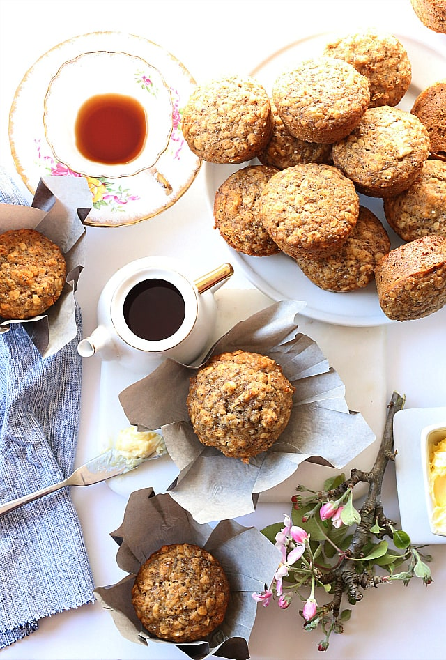 Easy Healthy Oatmeal Muffins | Gluten Free Dairy Free