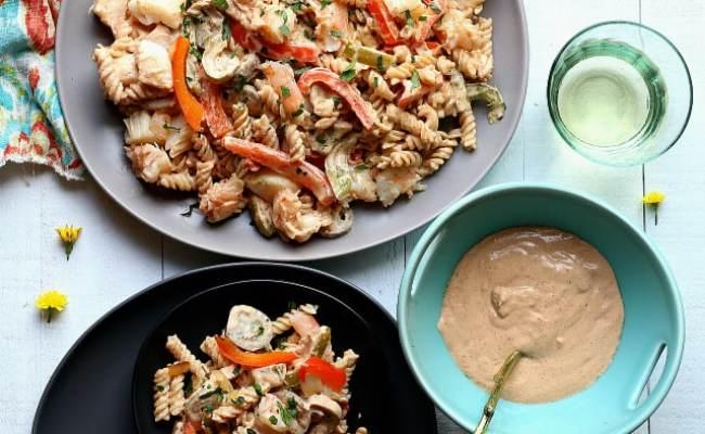 Shrimp And Scallop Pasta In Cajun Garlic Cream Sauce