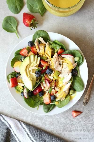 Chicken Spinach Strawberry Salad
