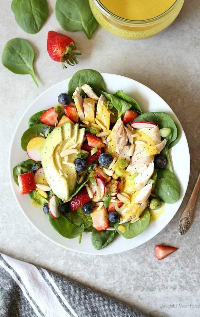 chicken spinach salad recipe