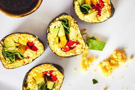 Raw Turmeric Cauliflower Sushi