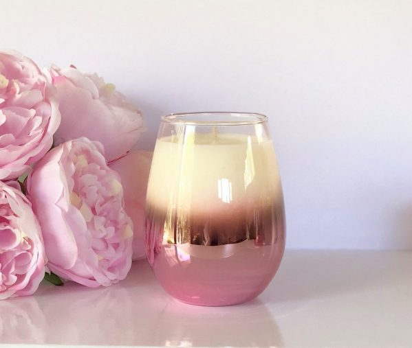 Pink Riley Stemless Soy Candle