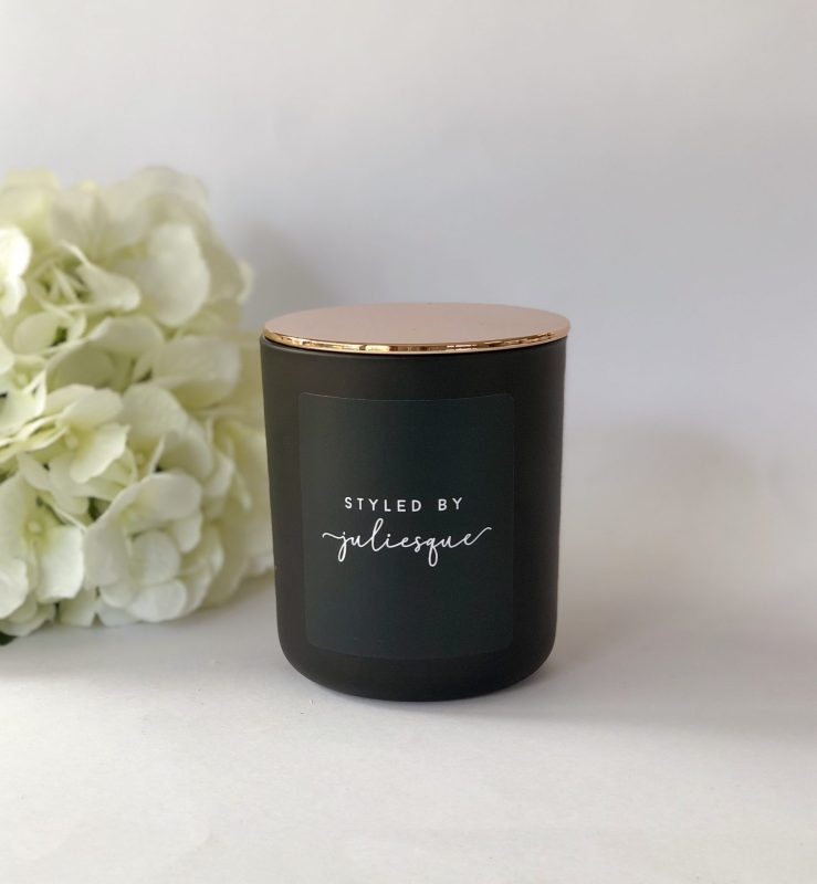 Customised Matte Black Soy Candle