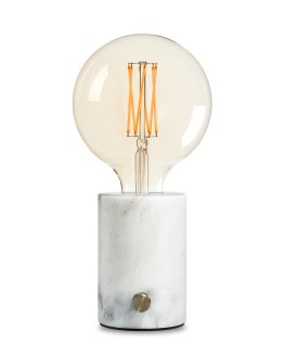 Delighting BIRSO marmer tafellamp wit inclusief lamp